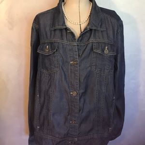 L.L. Bean Blue Jean Lyocell Jacket XL